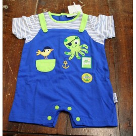 Playsuit entire fledgling 1/3 months, royal blue