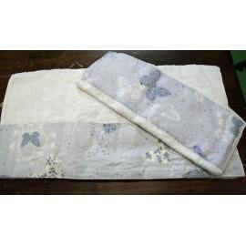 Coppia asciugamani da bagno con farfalle