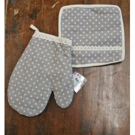 Kitchen linen - pot holders + glove