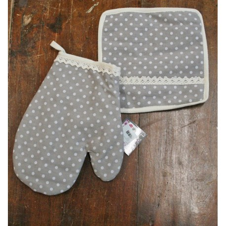 Kitchen linen - pot holders + glove