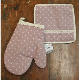 Set, kitchen glove, oven and pot holders