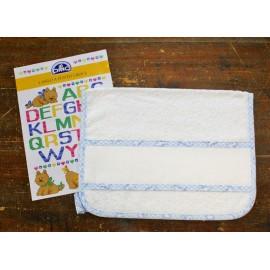 Asciugamano ospite col. Bianco/Azzurro