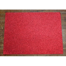 Sheet moosgummi Glitter col. Red