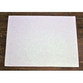 Sheet moosgummi Glitter col. White