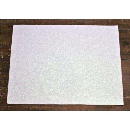 Sheet moosgummi Glitter col. White