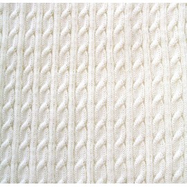 Tessuto maglia col. Bianco