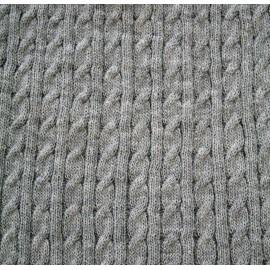 Tessuto maglia col. Grigio