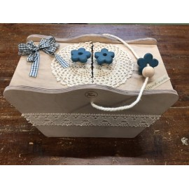 Kit tutorial - Box work wood turquoise