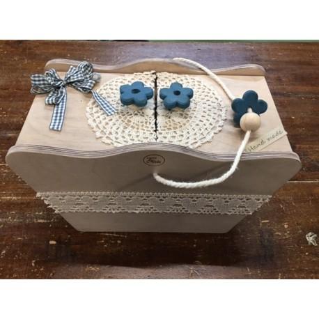 Kit tutorial - Box work wood turquoise