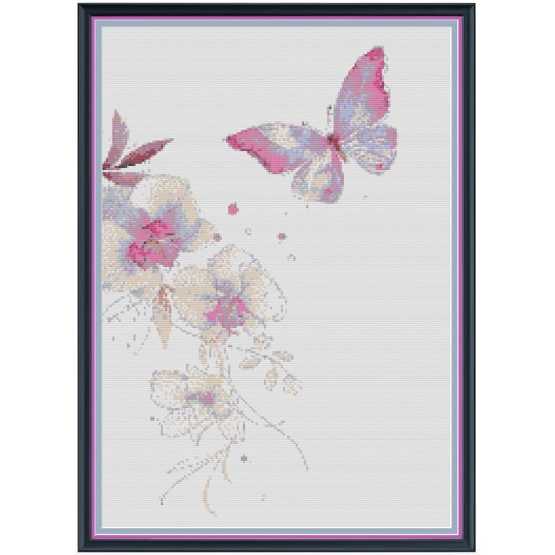 Schemi gratis orchidee e farfalle for Schemi punto croce fiori e farfalle