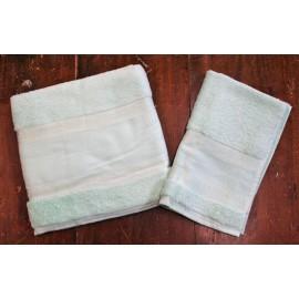 Coppia asciugamani da bagno col. Menta