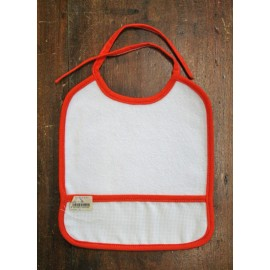 Bib baby with. White and orange