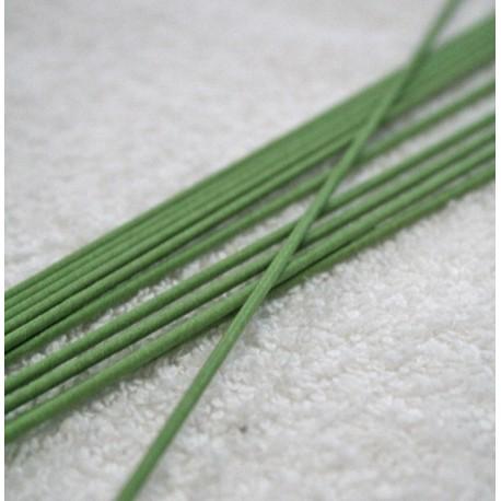 Gambo fiori fil di ferro col. Verde