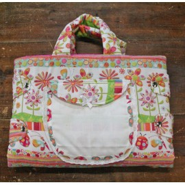 Bag changing mat with. Multicolor with flowers