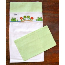Baby equipment-cot, 2 pcs col. White and green