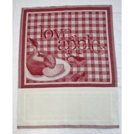 """Strofinaccio Col. Panna e Rosso """"Love Apple"""""""