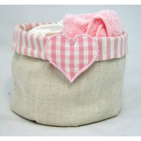 Basket there's a choice with. Pink and rope