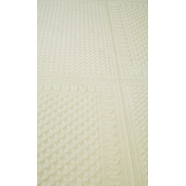 Aida fabric 21 holes wool honeycomb Col. Cream
