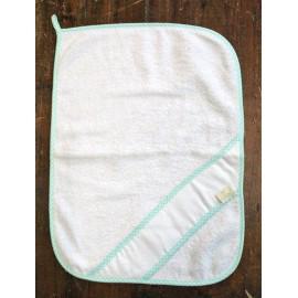 Asciugamano ospite col. Bianco e verde acqua