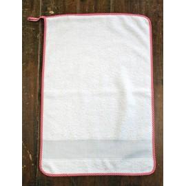 Asciugamano ospite col. Bianco e rosso