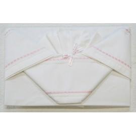 Corredino lettino 3 pz col. Bianco e rosa