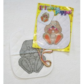 Kit embroidery bib cross stitch - Bunny