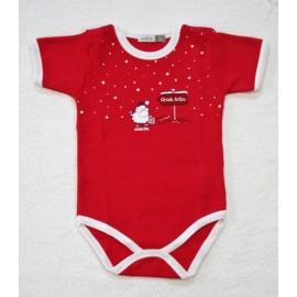 Body bigamia di cotone 9 mesi - Rosso