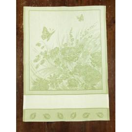 Strofinaccio Farfalle e Coccinelle col. Verde chiaro