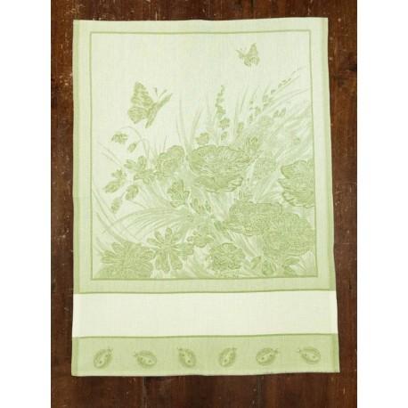 Strofinaccio Farfalle e Coccinelle col. Verde
