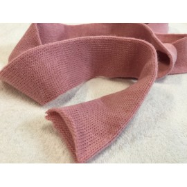 Nastro tubolare in lana col. Rosa