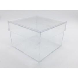 Scatola quadrata di plexiglass