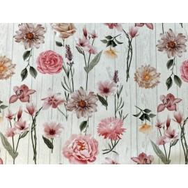 Tessuto tirolese - Flower rosa