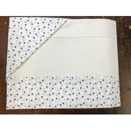Lenzuolino lettino triangolino azzurro