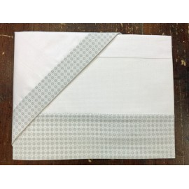 Lenzuolino lettino quadrettini grigio