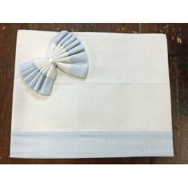 Lenzuolino culla quadratini azzurri