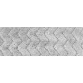 Tessuto di Pile - Minky Wave col. grigio