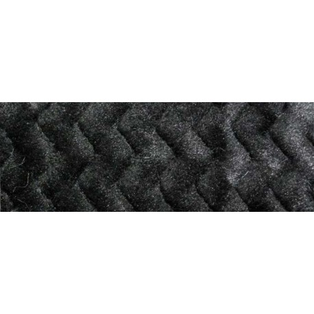 Fleece fabric - Minky Wave with. black