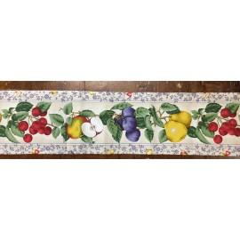 Bordo di tessuto con la frutta