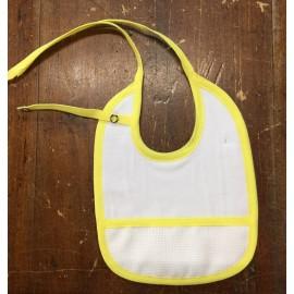 Bavaglina neonato giallo con porta ciuccio