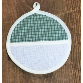 Pot holder, round - scottish green