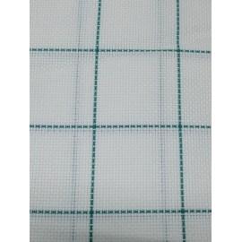 Tessuto tovagliato da ricamare a scacchi verde
