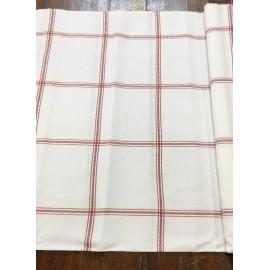 Tessuto tovagliato da ricamare bianco a quadri rossi
