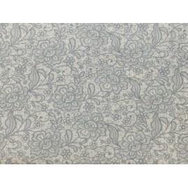 Tessuto cotone stampa pizzo h 145
