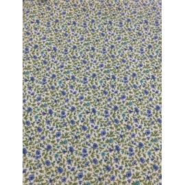 Tessuto americano con fiorellini blu