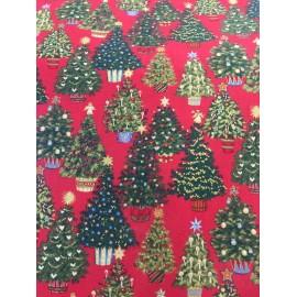 Tessuto americano natalizio con alberi
