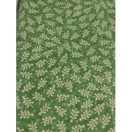 Tessuto americano con alberelli stilizzati verde
