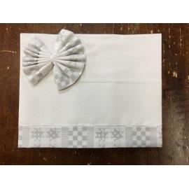 Lenzuolino culla farfalline grigio