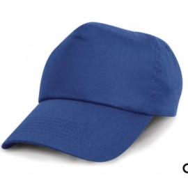 Cappellino da bambino con visiera blu regolabile