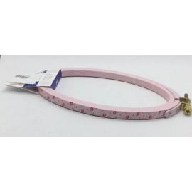 Telaio in legno DMC ovale 14x21 cm rosa