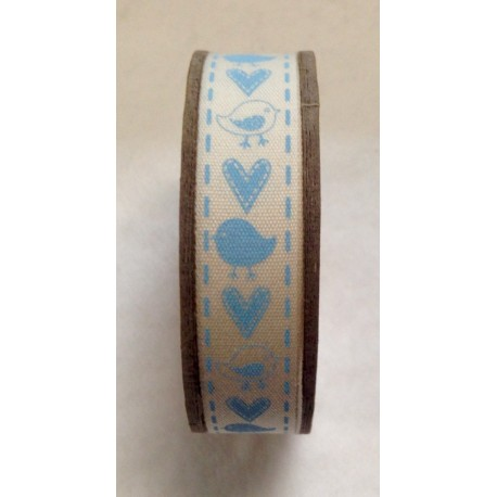 Tape roll with print Stripes blue